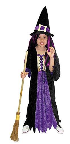 Hexe Kostüm Samt - Kostüm Hexe Samt Größe von 8bis 10Jahre