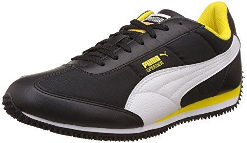Puma Men's Black, White and Dandelion Sneakers - 8 UK/India (42 EU)