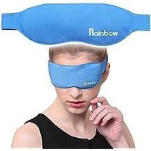 Dormir máscara de ojo con caliente fría terapias reutilizable y rápido Relif para lágrimas en los ojos, Puffy ojos, ojeras y más, color azul