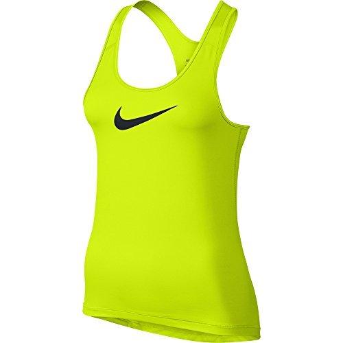 Nike Damen NIKE PRO COOL TANK Tanktop, Volt/Schwarz, XS (Top Nike Womens)