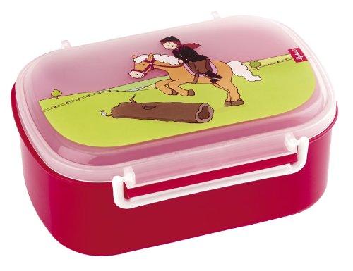 sigikid, Mädchen, Brotdose mit buntem Druck, Brotzeitbox Pony Sue, Rot, 24475