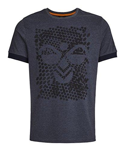 Hummel Herren T-Shirt Teal SS Tee Total Eclipse Melange