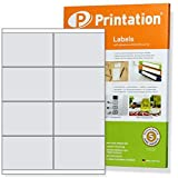 Etiketten 105 x 70 mm selbstklebend weiß - 80 Stk. / 10 A4 Blätter 2x4 105x70 - für Aufdrucke 3426