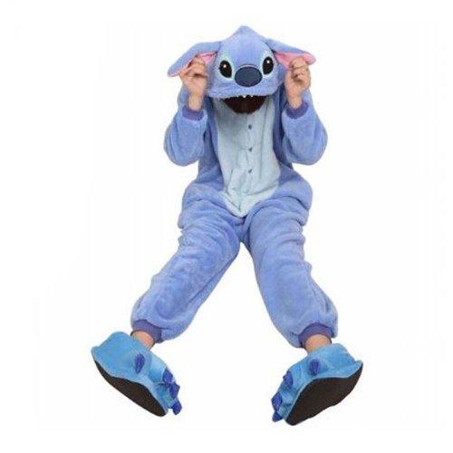 mper HOT Disney Stitch-Kostüm-Partei-Pyjamas Unisex Kostüm Kigurumi Pyjamas Nachtwäsche Stich / S (Disney Stitch-halloween-kostüm)