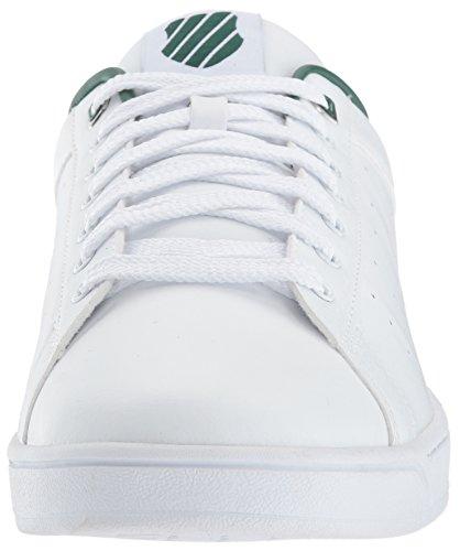 K-swiss Clean Court Cmf, Chaussures Plates Basses Pour Hommes (blanc / Vert Foncé)