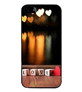 FUSON Love Cubes With Heart Designer Back Case Cover for Apple iPhone 5S