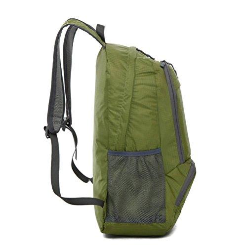 Gratis Knight New Style Outdoor Rucksack Wasserdicht Faltbar Klettern Wandern Tasche Casual 35L Grau