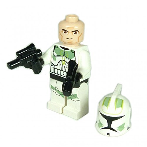 Lego Star Wars Clone Trooper Commander grün 2 Pistolen Blaster the Clone Wars 7913 F06