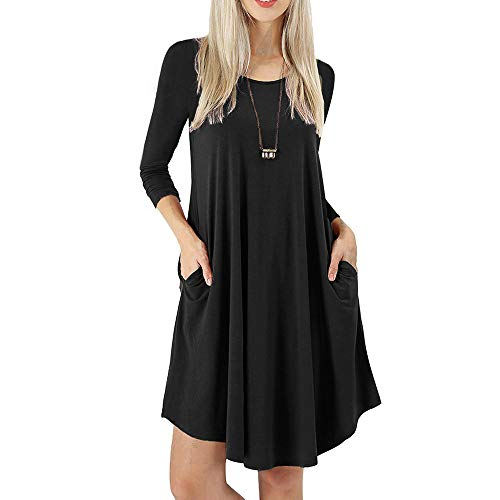 Innerternet Women Dresses Casual Long Sleeve Above Knee Mini Dress Loose Party Dress for Indoor Outdoor African Boho Dresses
