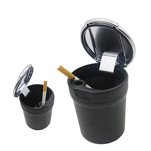 Tabak Lagerung (Aschenbecher ANNIGI Schwarz Auto AschenbecherBlau Led Licht Büro Reise Tragbare Safe Driving Tabak Asche Lagerung)