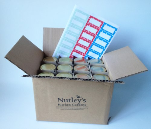 Nutley's 190ml Round Glass Jam Jar with Dotty Label (Pack