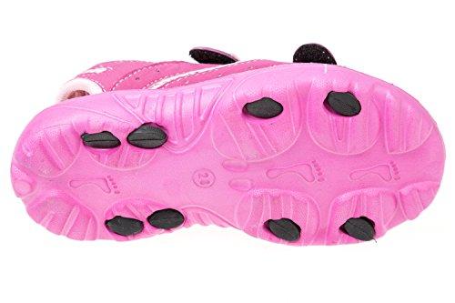 GIBRA® Sandales pour enfants, avec fermeture velcro, taille 28–35 Rose - Rose