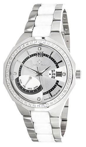 Stella Maris ST5656 - Reloj de cuarzo con correa de cerámica para mujer, color blanco