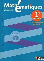 Mathématiques - 1re Pro Bac Pro