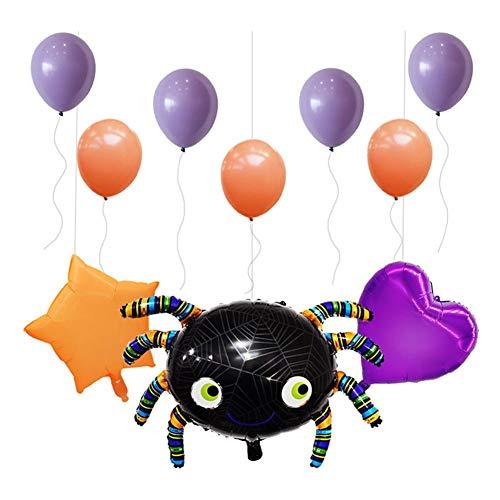 iBaste Halloween Party Deko Luftballons Halloween Party Dekorationen Zubehör Halloween Party Ballons Spider Dekorative Ballons Set