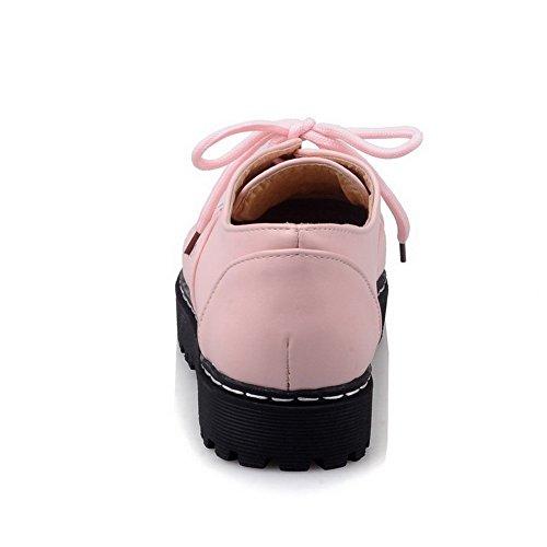 Pelle Rosa Donna Tacco Colori Mescolato Chiaro Scarpe Hanno Di Voguezone009 Rotondo Bassa Merletto zzqxw04HOZ