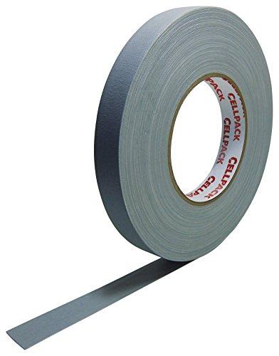 Cellpack 146072900.305-25-50, Stoff-Band, beschichtete Baumwolle, grau