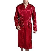 Lachi Albornoz Bata Hombre Robe Ropa de Dormir Satén