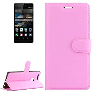 Crazy4Gadget Huawei P9 Litchi Texture Horizontal Flip Leather Case with Holder & Card Slots & Wallet(Pink)