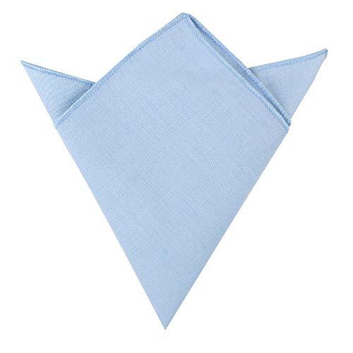 AUSCUFFLINKS Herren Erröten blaues einstecktuch baumwolle leinen taschentuch | hochzeit taschentuch für trauzeugen | (einstecktuch, erröten blau)