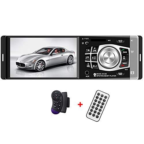 BoomBoost Radio de coche Estéreo FM 4.1 '' Bluetooth HD USB / TF / EQ MP3 / Control de Rueda MP4 Player autoradio
