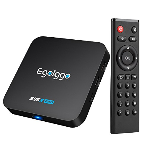 EgoIggo S95X Pro Android 6.0 TV Box Amlogic S905X Quad Core ARM Cortex-A53,2 GB + 16 GB Wifi preinstaldo con Kodi Fully Loaded 16.1 Smart TV Box
