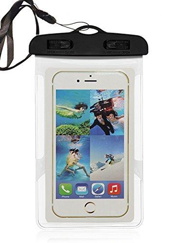 Aschoen braccio custodia impermeabile a tenuta stagna, Phone sigillato impermeabile durevole impermeabile della borsa con cordino portatile smartphone, White White