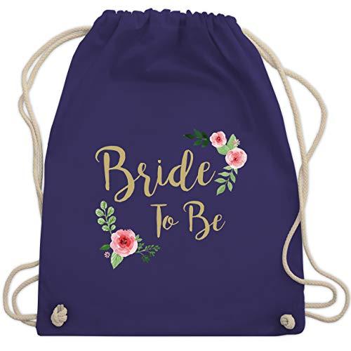 JGA Junggesellinnenabschied - Bride To Be - Unisize - Lila - WM110 - Turnbeutel & Gym Bag (Bier Themen Kostüm)