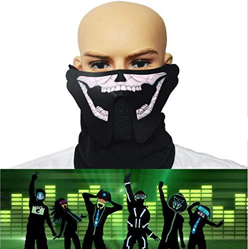 WSK LED Light up Maske Sound Aktiviert Lichtmaske -
