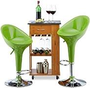 Relaxdays Barkruk 2-delige set, in hoogte verstelbaar, draaibaar, tot 120 kg, met leuning, barstoel, HxBxD: 101 x 45 x 40 cm