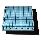 SOOWAY Flex magnetico a due strati Stampa Hot Bed Sticker Costruisci nastro di superficie per stampante 3D Costruisci piano riscaldato Letto compatibile con Creality Ender 3 Anet A8(220x220mm)