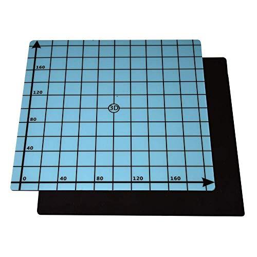SOOWAY Flex Magnetic Zwei-Schicht-Druck-Heißbett-Aufkleber Bauflächen-Klebeband für 3D-Drucker Baufläche Beheiztes Bett Kompatibel mit Creality Ender 3 Anet A8, 220x220mm