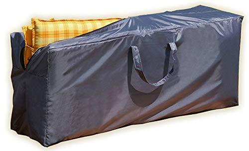 Gartenpirat Aufbewahrung Tasche 125x32x50cm für Polsterauflagen Tragetasche Hochlehner Sitzkissen