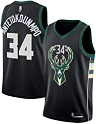 YIXUAN Hombre los de Camiseta NBA Jersey Milwaukee Bucks #34 Giannis Antetokounmpo Swingman Camiseta de