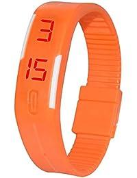 Talgo Presents Orange Color Unisex Silicone Digital LED Band Wrist Watch For Boys, Girls, Men, Women