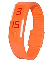 4fd8dc32c16cb Sky Mart New Arrival Special Collection Orange Color Unisex Silicone  Digital LED Band Wrist Watch for