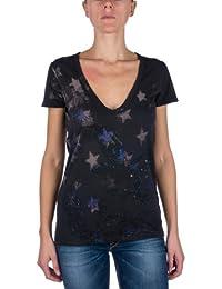 Replay Damen T-Shirt W3529B.000.20760, V-Ausschnitt