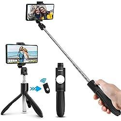 ELEGIANT Palo Selfie Móvil Stick Bluetooth con Trípode para Viaje Autofoto Extensible de Control Remoto Monopié 3 en 1 Obturador Deportivo Rotación 360 Grados para iPhone XS Samsung Huawei Xiaomi
