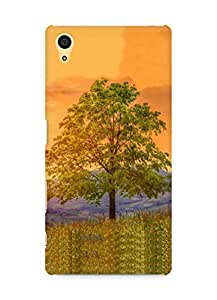 Amez designer printed 3d premium high quality back case cover for Sony Xperia Z5 (Tree meadow flower)