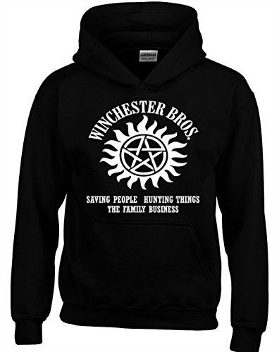 Designs by The Crown Winchester Brothers Horror Teen Fiction TV Show Inspired Gift Unisex Hoodies for Men, Women & Teenagers
