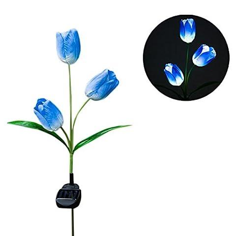 Lumière de Paysage de Fleur de LED, Gaddrt Lampe Solaire de Paysage de Pieu de Jardin de Mise Extérieure, Résistant à l'eau (c)