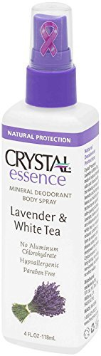 CRYSTAL essence Mineral Deodorant Body Spray - Lavender and White Tea (4 fl oz) - 12 Pack