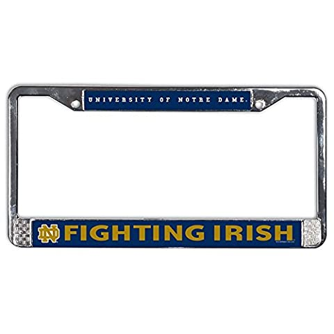 NCAA Notre Dame 54253011 USA Metal License Plate Frame