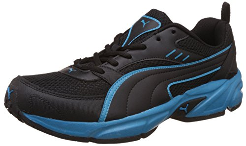 Puma Men's Atom Fashion III Dp Puma Black and Atomic Blue Running Shoes - 9 UK/India (43 EU)
