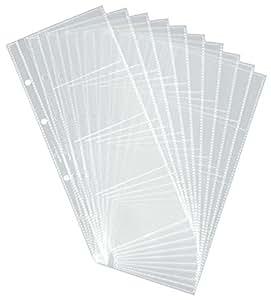 Durable 238719 Visifix Pochette Transparente 8 Cartes Compatible Reliure à Anneaux Sachet de 10