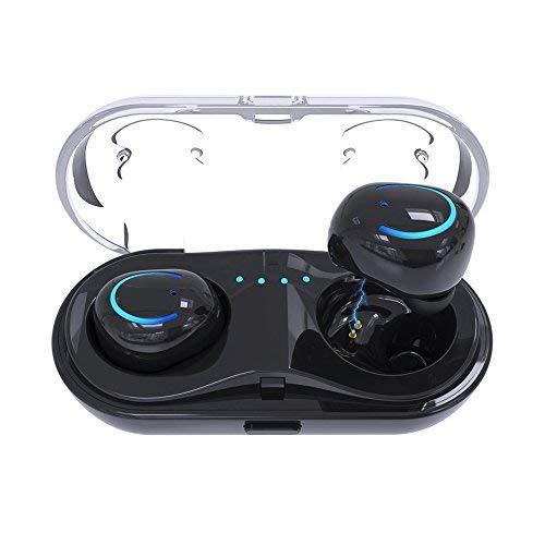 Auricolari Bluetooth senza Fili Wireless in Ear,Quncenle Cuffie Bluetooth 4.2 stereo Auricolare Mini Auricolari a Prova di Sudore Senza Fili Con Microfono e Dispositivo di Ricarica Per Iphone Samsung
