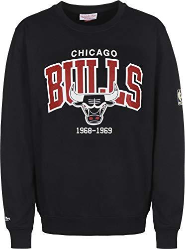 Mitchell & Ness Chicago Bulls HWC Arch Logo NBA Crewneck Sweatshirt Schwarz, S -