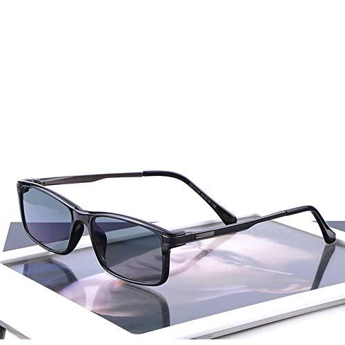 LKVNHP Hochwertige Mode Photochrome Brille Männer 0 Grad Mode Brille Mit Klaren Gläsern Brillengestelle Herren Spektakel Benutzerdefinierte Minus Objektiv Wechsel Auf Graue Linse