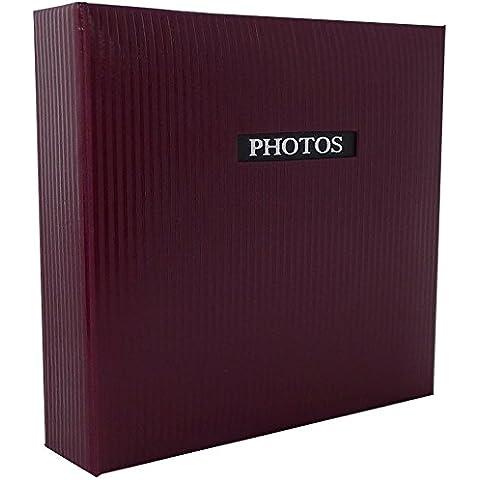Elegance rojo tradicional álbum de fotos–60lados general Tamaño 9,75