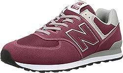 New Balance Herren 574v2 Core Sneaker, Rot (Burgundy), 42 EU
